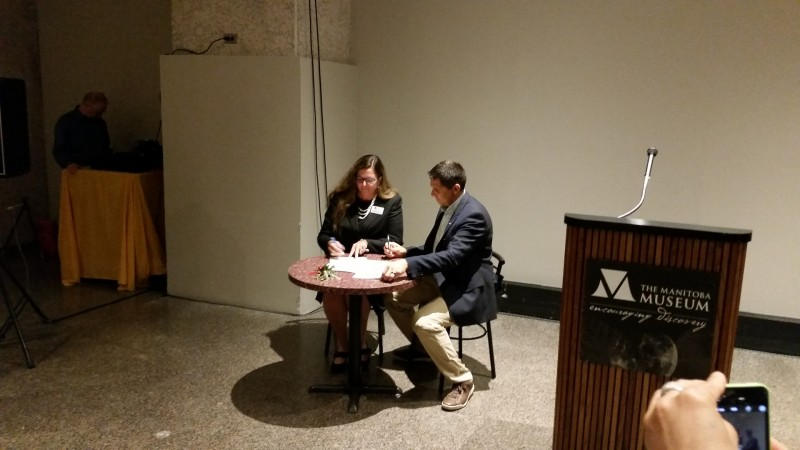 Memorandum of Understanding signed by the Museum's Claudette Laclerc and Treaty Commission's
