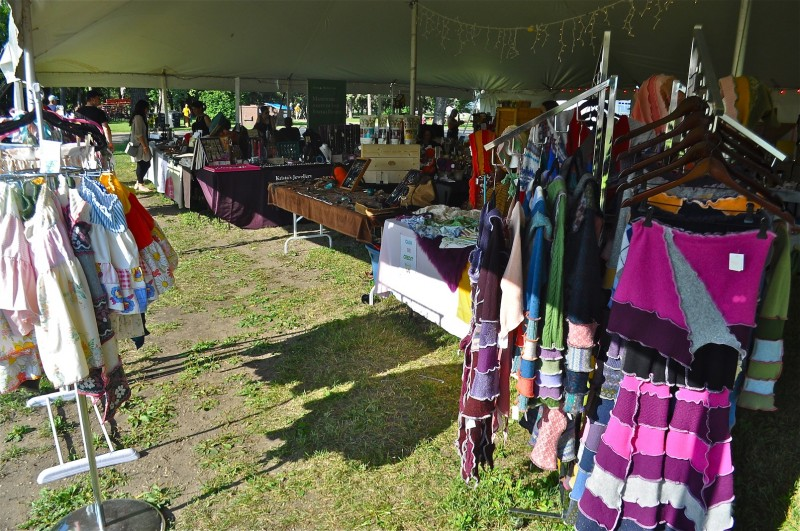 The crafters market had everything from arts and crafts to pottery, jewellery and upcycled clothing