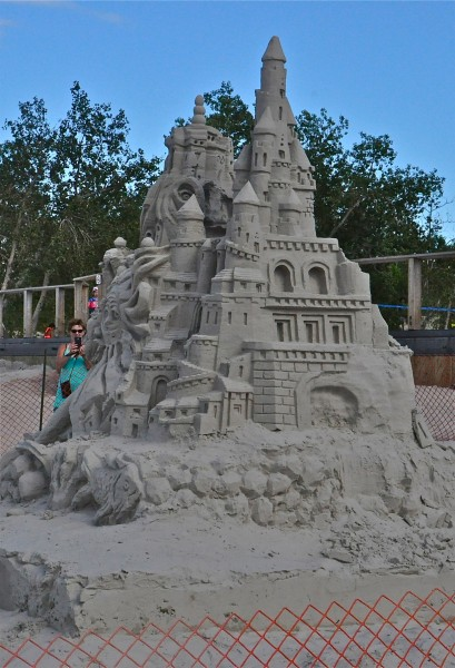 Perhaps one of the tallest Sand Castles I've ever seen, this one stood over 12 feet tall
