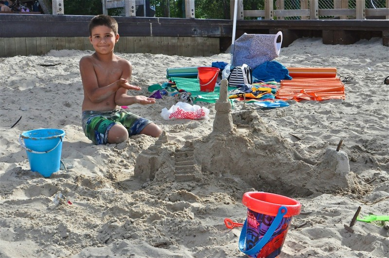 Xavier Camancho was inspired to make his own sand castle