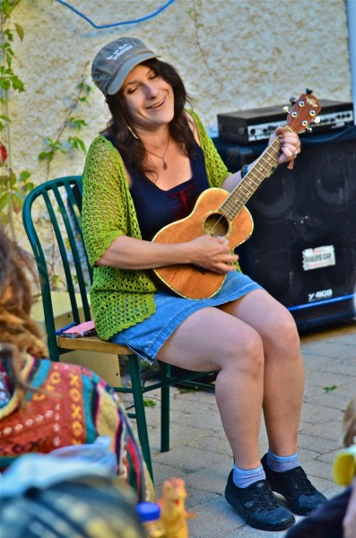 The very talented and upbeat Maria Mango's song put smiles on everyone's faces