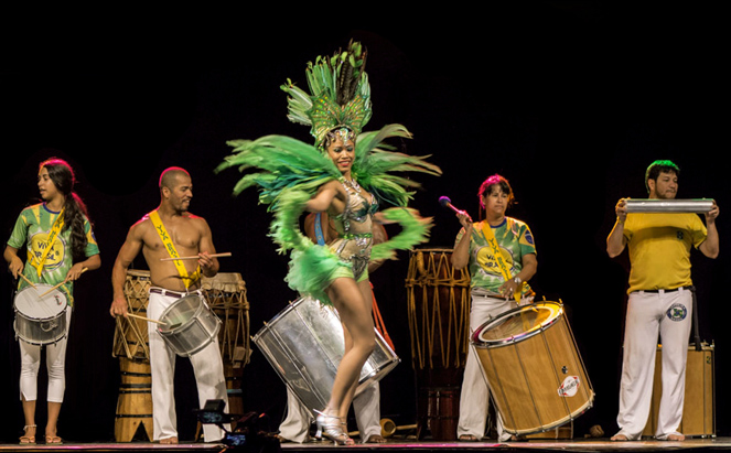 High energy performance at the Viva Brazil Pavilion. PHOTO: Kylene Avendano
