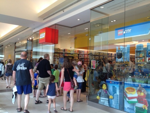 Opening of Winnipeg's first Lego store attracted many.