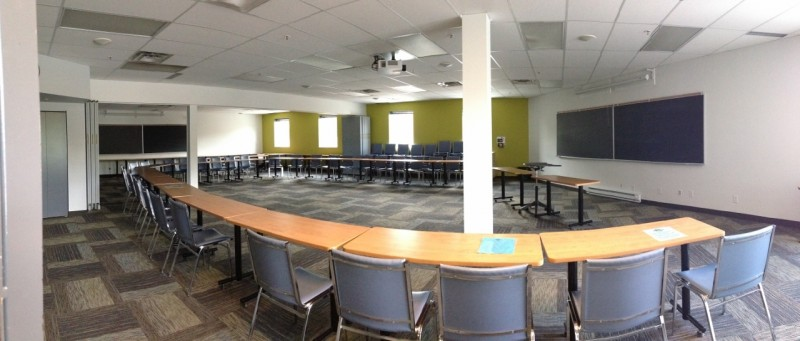 The classroom at Global College where the course was held.