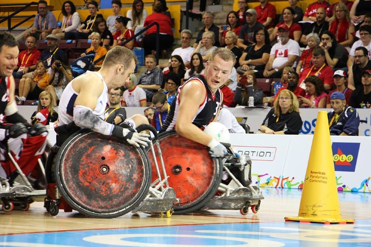 A huge honour for Okotoks' Zak Madell (right) being chosen as the flag bearer for Canada at Para Pan-Am Games 2015 closing ceremonies.