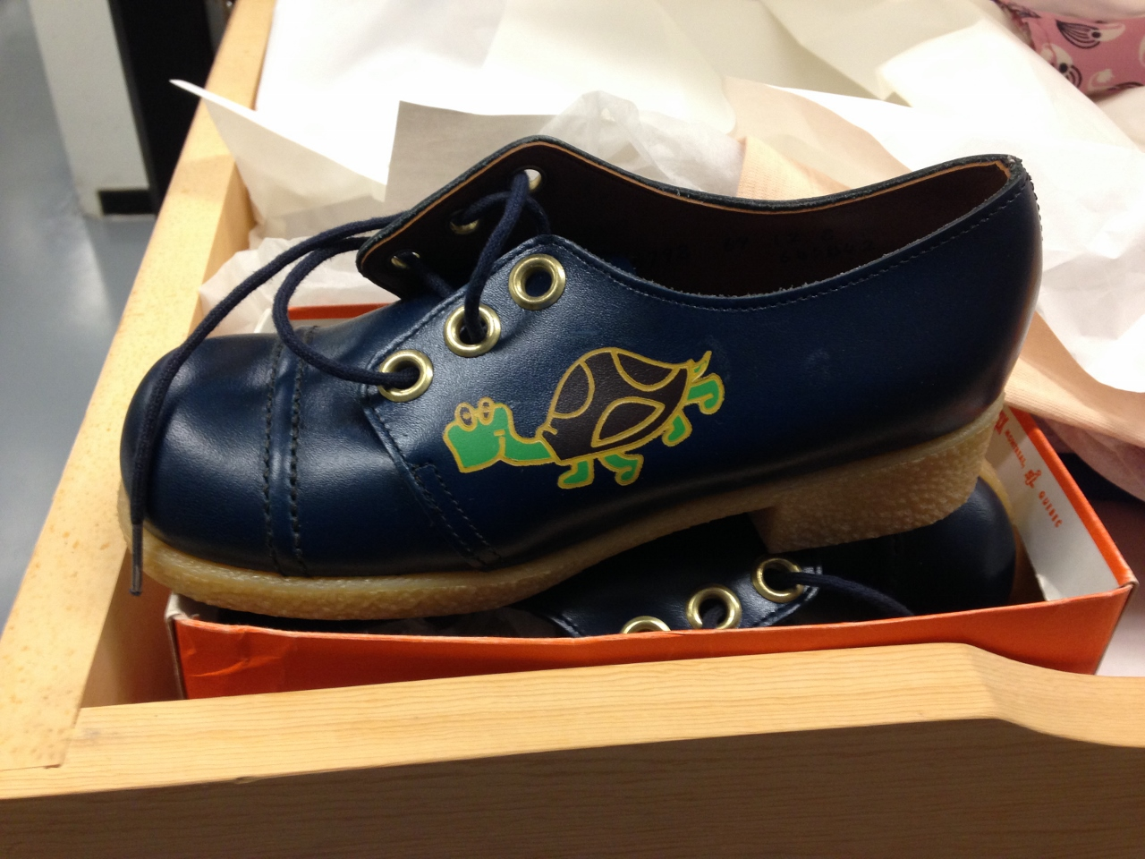 Doing artefact inventory was like treasure hunting. Check out these cool vintage shoes in the collection.