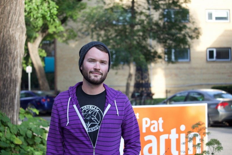 Thomas Beever says he doesn't know who he's going to vote for in the 2015 federal election, but he does know he isn't voting Conservative. Pat Martin is the NDP candidate for the Winnipeg Centre riding/BRITTANY HOBSON