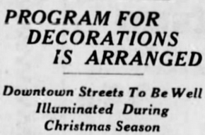 Christmas Lights November 5 1929 Tribune