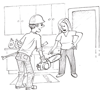 Home renos as a metaphor for marriage. John Henry Creations.