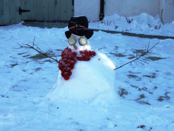 World's ugliest snowman. /TREVOR SMITH