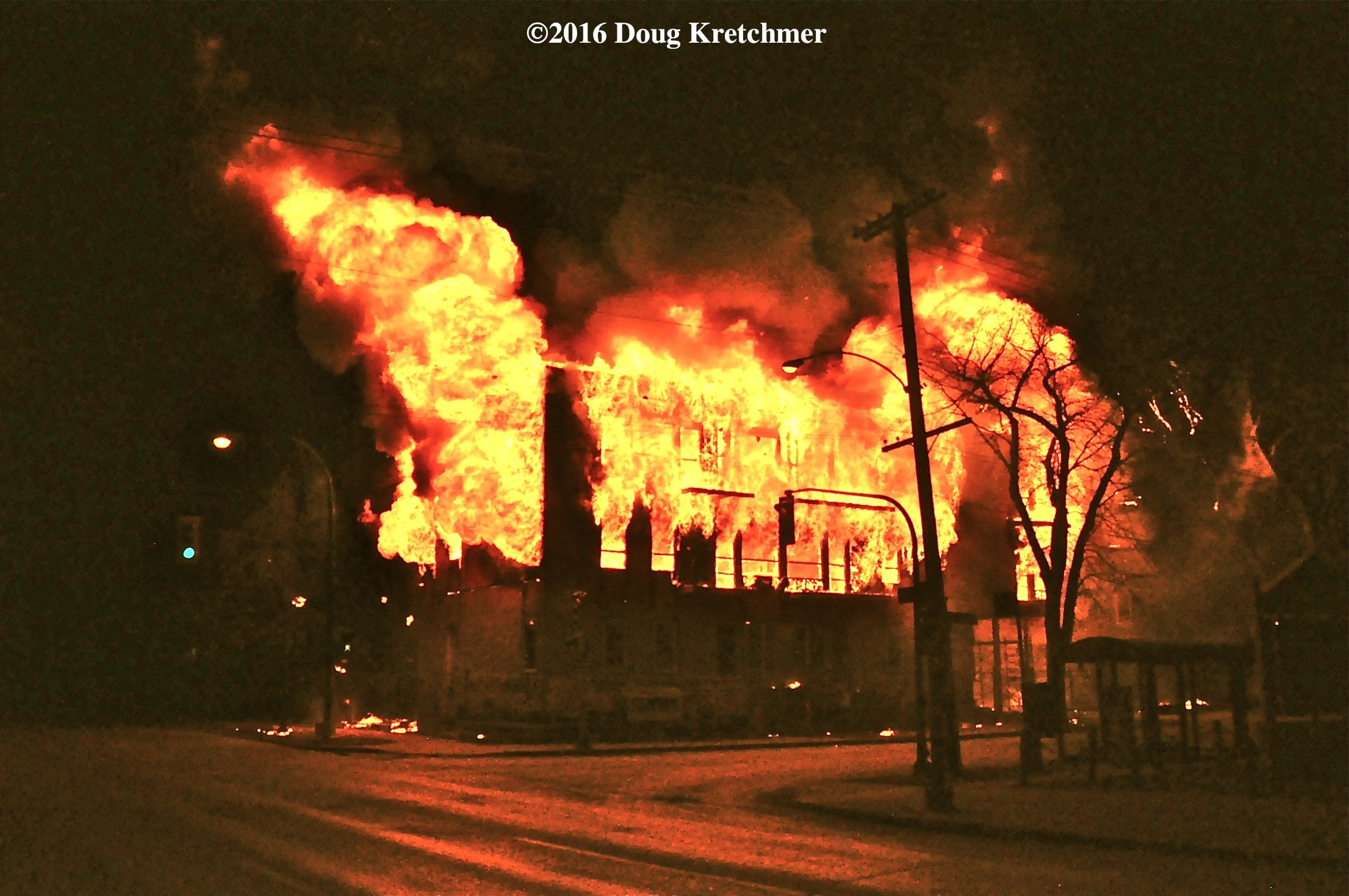 Arson is suspected in this fire in Wolseley early Saturday morning. /DOUG KRETCHMER