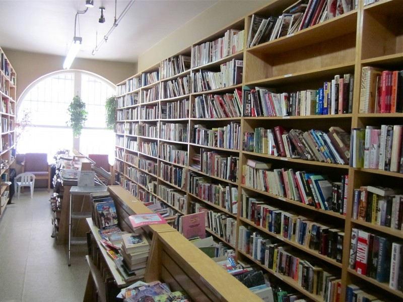 The well stocked book section of the Goodwill Store on Princess Ave.