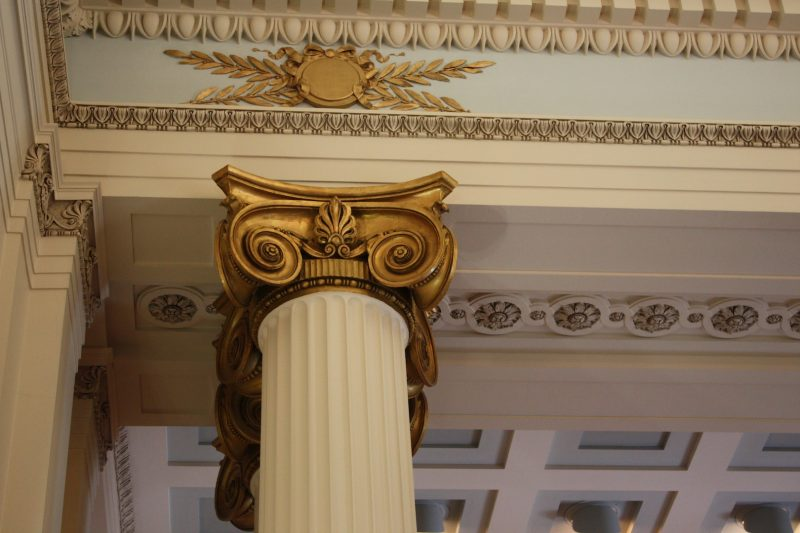 Ornate column in Manitoba Legislative Building, tours were available during Doors Open Winnipeg this past weekend
