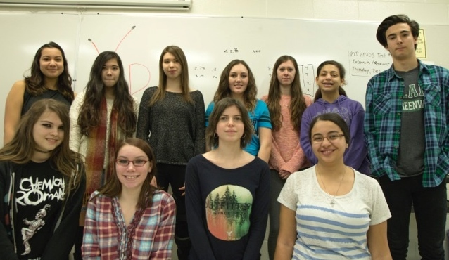 Vincent Massey Collegiate's Youth in Philanthropy team.