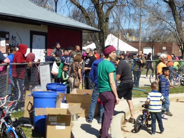 Many residents came out for the annual Bike Bazaar. /SONJA LUNDSTROM