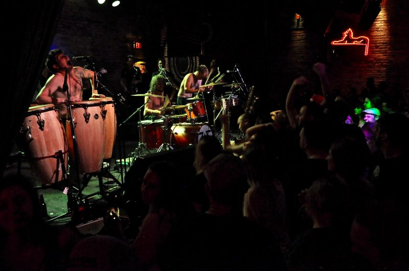 Five Alarm Funk lively energetic show funked up the Pyramid Cabaret