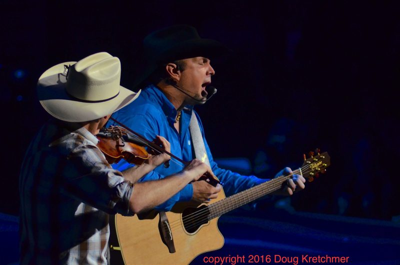 It was an energetic, heartfelt performance by Garth Brooks and band. /DOUG KRETCHMER