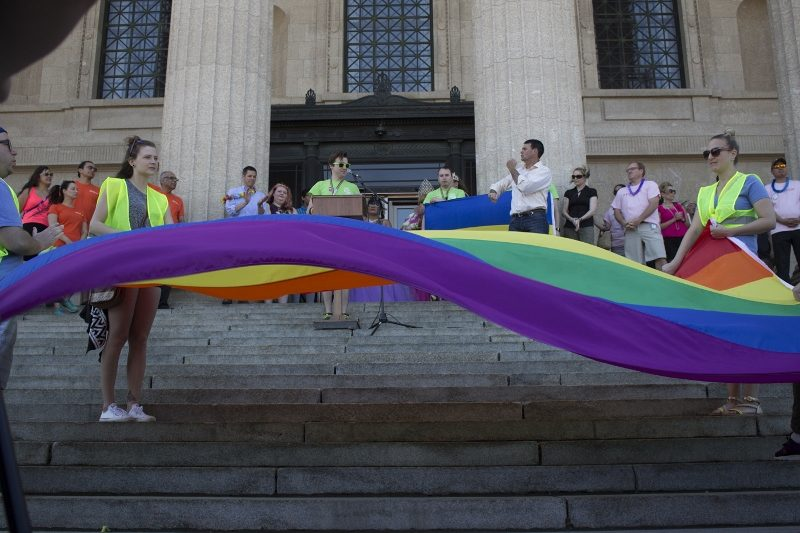 Pride Parade began at the Legislature. /MARIE LEBLANC