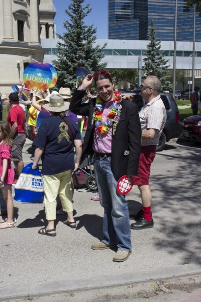 Liberal MP Robert Falcon Ouelette attended the festivities. /MARIE LEBLANC