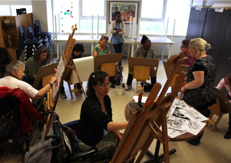 Providing the opportunity for people to gather around artistic expression.
