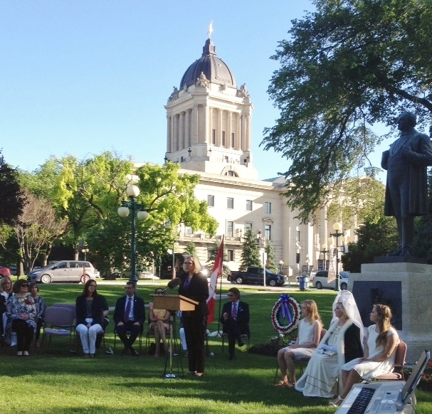 IODE Jon Sigurdsson Chapter Members attend special Icelandic Independence Day celebrations at the Manitoba Legislature on June 17, 2016.