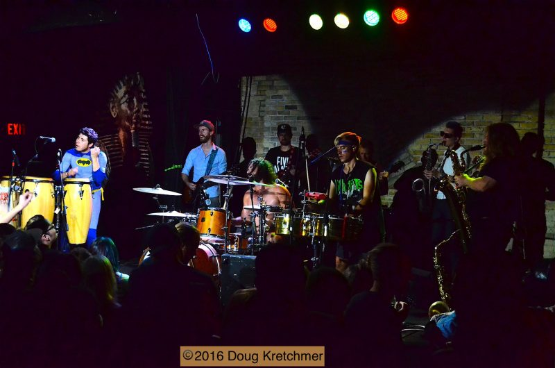 The nine piece Five Alarm Funk knows how to funk up the place. /DOUG KRETCHMER