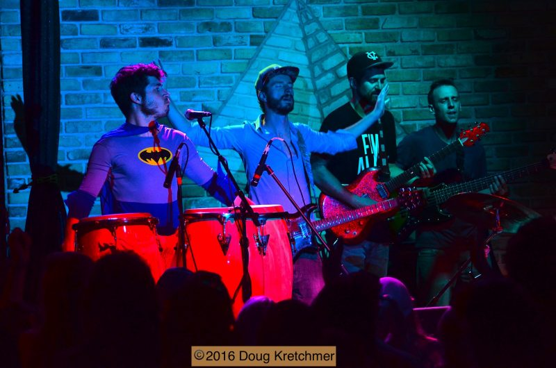 Conga and string section complete the full bodied sound of Five Alarm Funk. /DOUG KRETCHMER