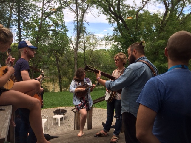 Jesse Matas works with young performers in a relaxing, creative environment.