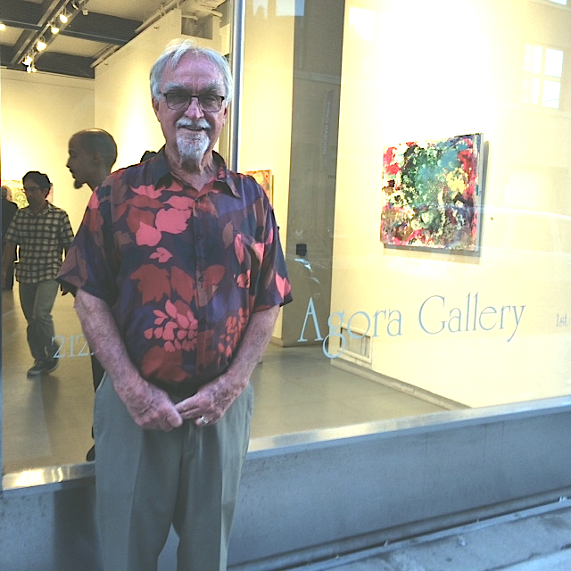 Bob Scurfield at the Agora Gallery.