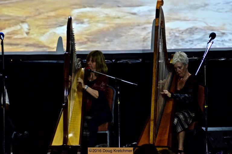 Harpists at United Kingdom Pavilion