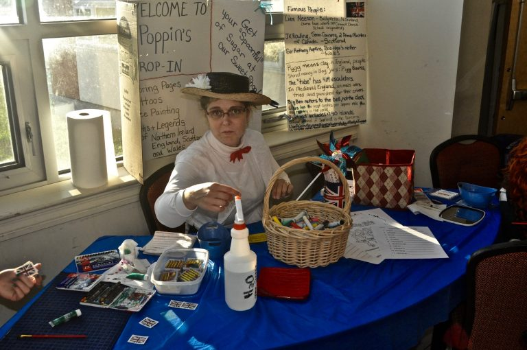 Join Mary Poppins for a craft or to get a UK flag tattoo