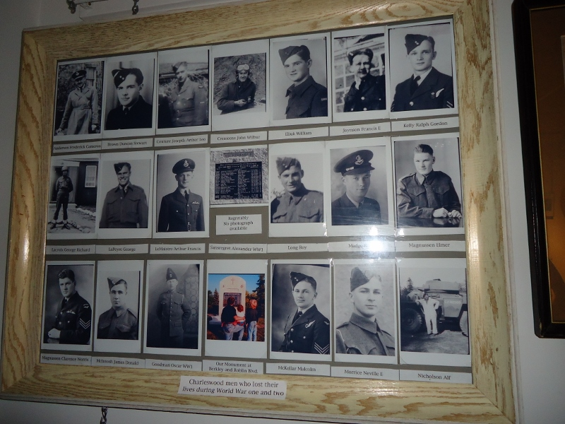 Soldiers from Charleswood who died during the Great Wars. /SHIRLEY KOWALCHUK