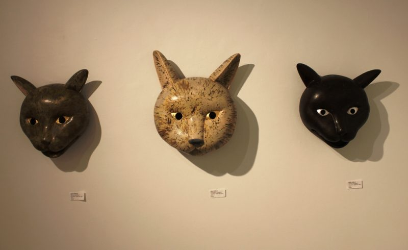 Kevin Staffords cat masks at cre8ery