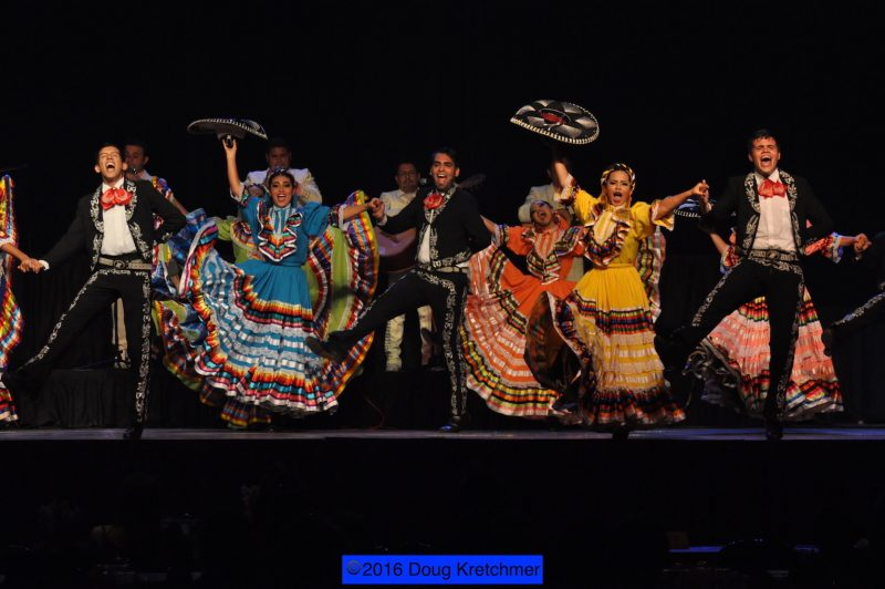 Performers from Mazatlan Sinaloa, Mexico, wow the crowd. /DOUG KRETCHMER