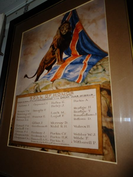 Honour Roll of Charleswood soldiers who died in World War I and II. /SHIRLEY KOWALCHUK