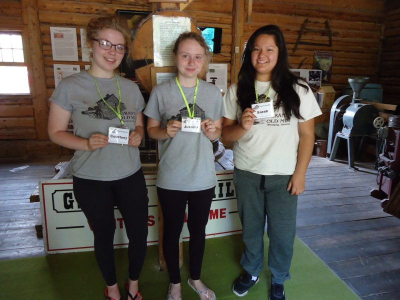 Jessica, Courtney, Sarah - guides at Grants Old Mill Museum . /SHIRLEY KOWALCHUK
