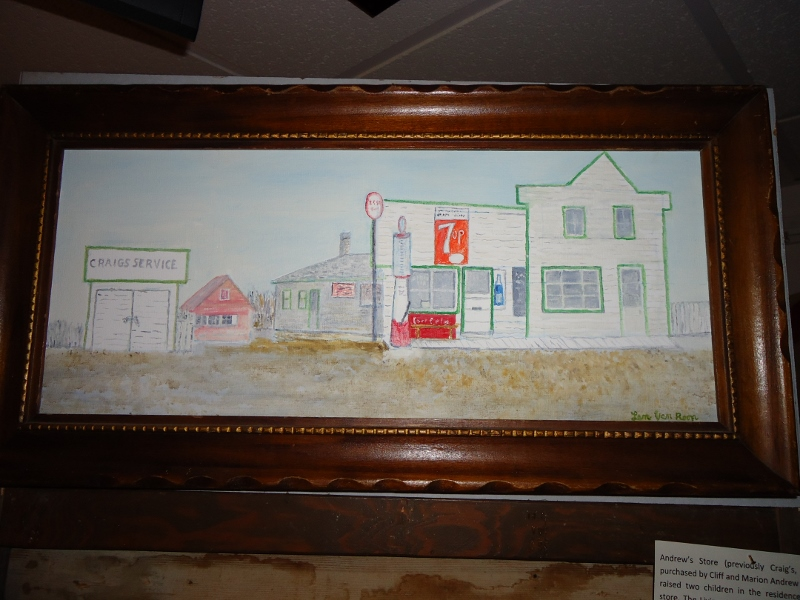 Painting of Craig's Store with history lower right. /SHIRLEY KOWALCHUK