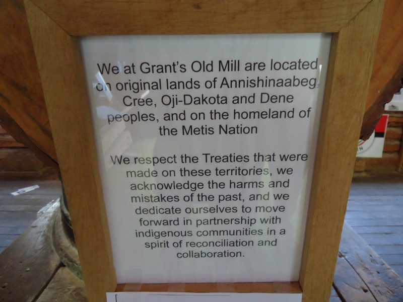 reconciliation signage in Grants Old Mill