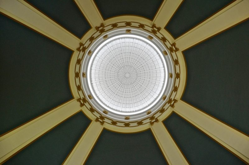 The domed ceiling made for some very interesting acoustics at the train station
