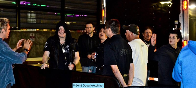 Tom and some of his band mates chatted with some of the fans after the show before hitting the road