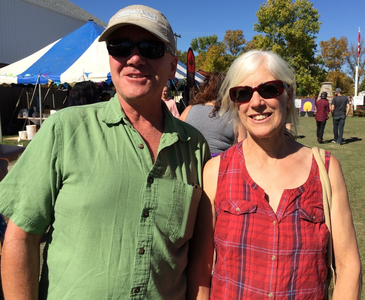Wendy Beulow and David Lewis attended some of the workshops at Harvest Moon Festival 2016. /NOAH ERENBERG