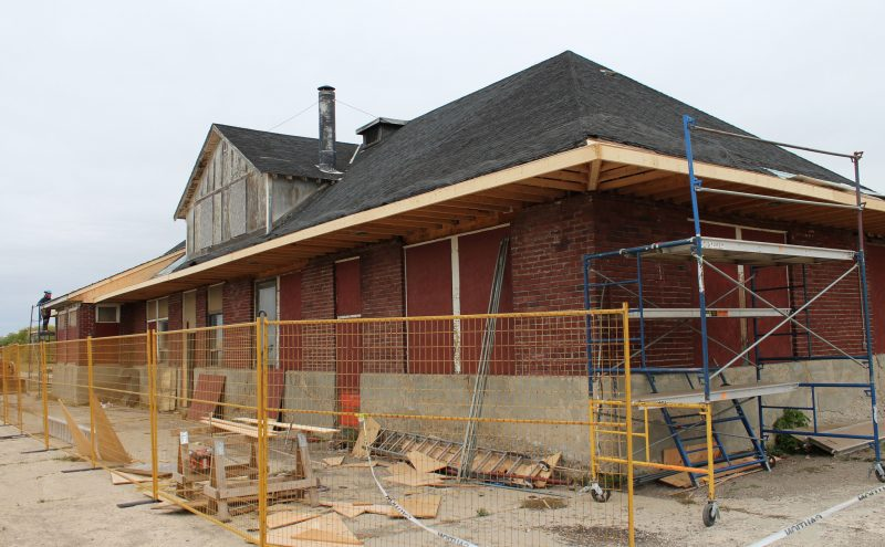 Rivers Train Station, the only hop on point for VIA Rail in Western Manitoba, currently undergoing a restoration. /CHRISTIAN CASSIDY