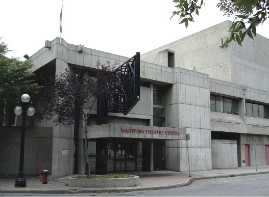 Royal Manitoba Theatre Centre is one of many buildings in Winnipeg designed in the Brutalist architecture style.