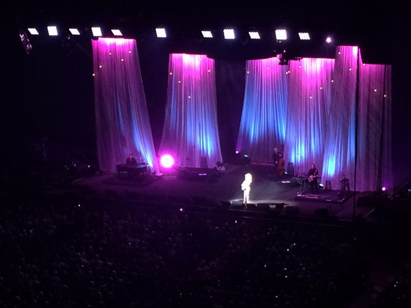 Dolly Parton on stage at MTS Centre.