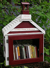 The first Little Free Library, built in honour of founder Todd Bol's mother.