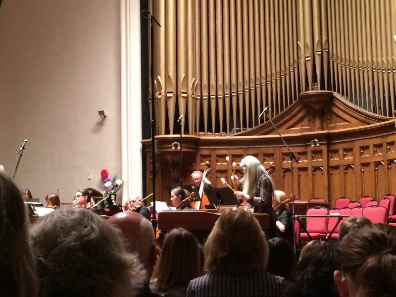 Dame Evelyn Glennie performing with Manitoba Chamber Orchestra at Westminster United Church. /ANNE MARTIN