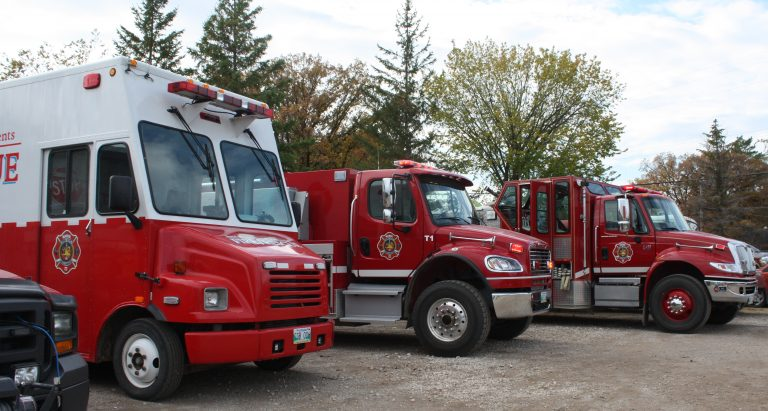 Rescue vehicles on display