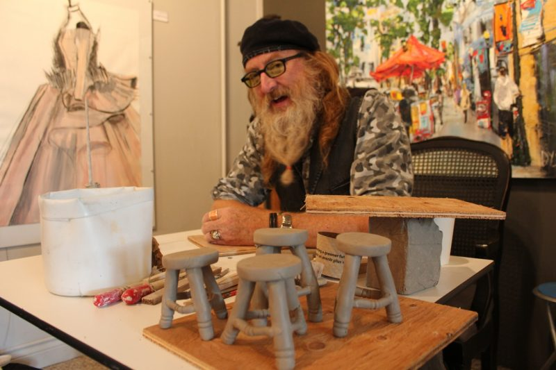 Have clay, will travel-Jordan Van Sewell demonstrates his craft at Pulse Gallery