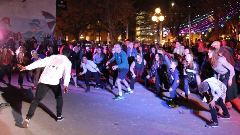 Dancing the night away on Old Market Square.