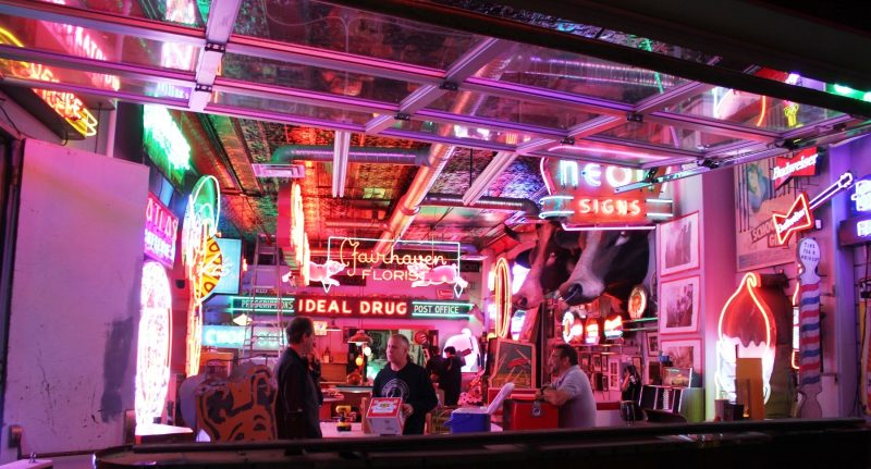Open house at the Neon Factory on Main Street